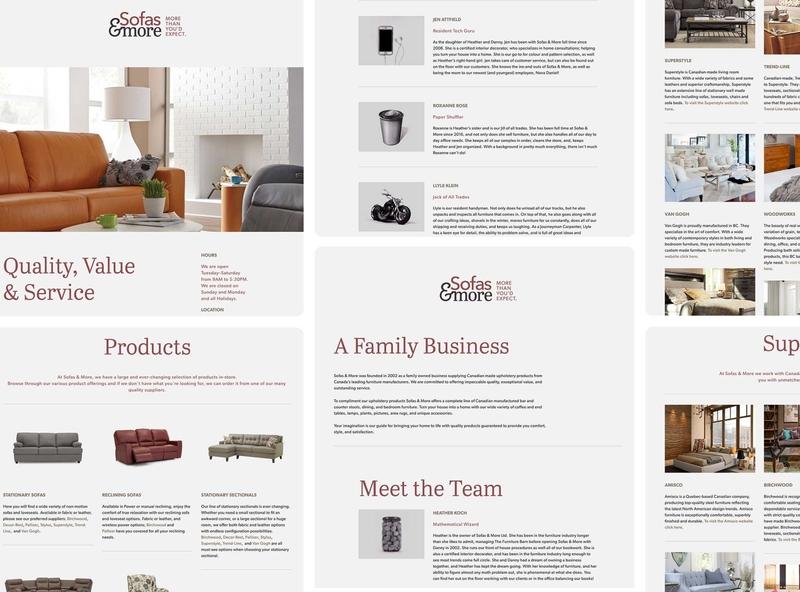 Sofas and More Website