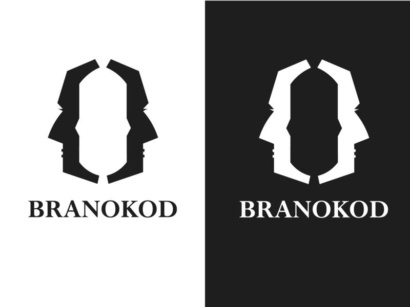 BRANOKOD logo code black  white invitation dribbble debut dribbble best shot dribbble logotype logo