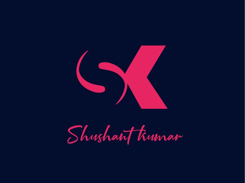 Sk  Logo design illustration sk logo shushant dribbble best shot logo alphabet sk logo a day logo