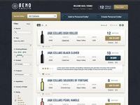 Wine storage UI