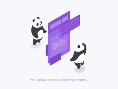 The Digital Panda is coming... digital panda coming soon portfolio
