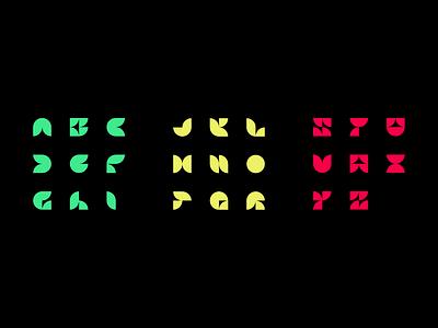 Alphabet Logo System uppercase font letters abstract typography logo system system logo abc alphabet