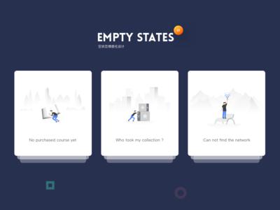 Empty States iphonex iphone character ux ui design interaction error states empty