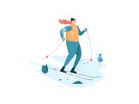 滑雪的女孩 / winter girl