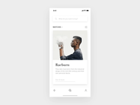E-commerce interface search search bar branding principle gif aniamtion iphone x ui reviews recommend shopping app e-commerce