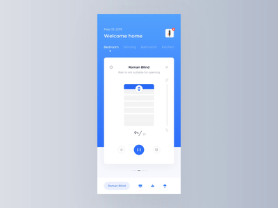 Smart Home Product Interface Animation