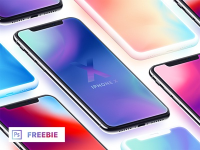 Iphone X — Isometric Mockups + Clay (Freebie) dark clay clay free psd free freebie isometric x mockup iphone clay iphone iphone x