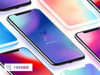 Iphone X — Isometric Mockups + Clay (Freebie)