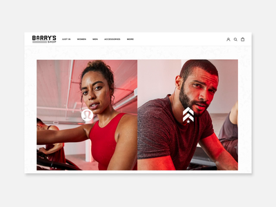 Barry's Bootcamp x Lululemon Landing Page typography announcement minimal mockup landing page animation 2d branding fitness animation interaction ux ui