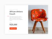 African Furniture Product UI Exploration