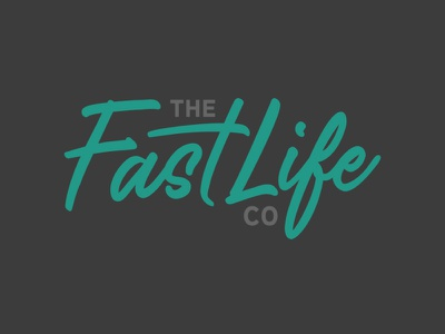 The Fast Life Co wakeboarding surfing dirtbike snowboard skateboard handlettered thrills motorsports apparel extreme sports racing