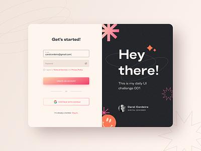 Daily UI 001: Sign Up sign up form design web ui figma daily 001 dailyui ui design