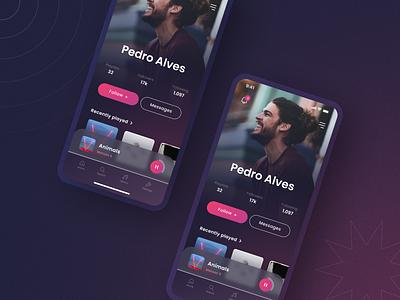Daily UI 006: User Profile daily006 music app music app ui figma design dailyui