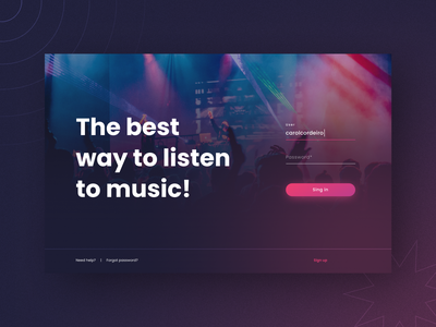 Daily UI 009: Music Player - Part 1 web player player music sign in form login music player ui figma design daily009 dailyui