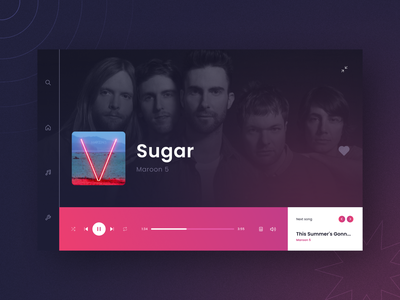 Daily UI 009: Music Player - Part 2 web player web player music music player ui figma design daily009 dailyui