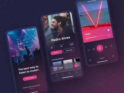 Daily UI 009: Music Player - Part 3 mobile player music sign in form login app music player ui figma design daily009 dailyui