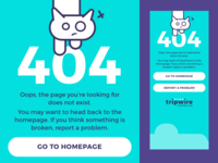 Tripwire 404 Page Mobile Design