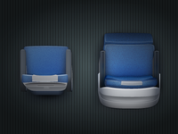Jets app - Economy and First Class Seats