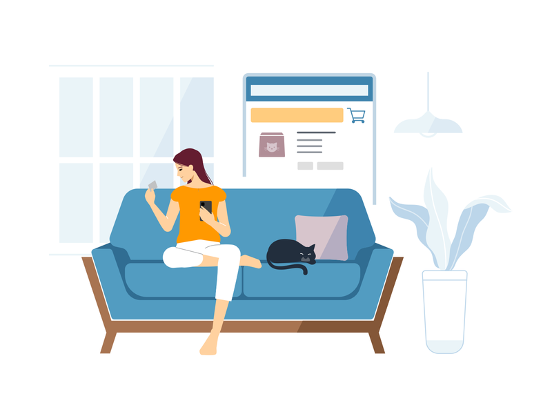 Amazon Shopping brand lifestyle illustrator design illustration