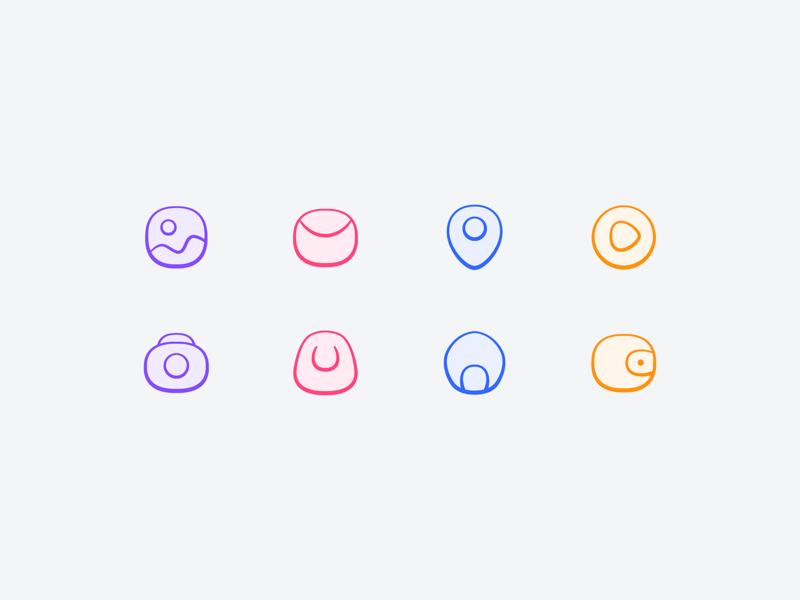 New style icon style icon illustration design