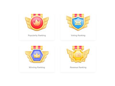 Medal app ui icon illustration design