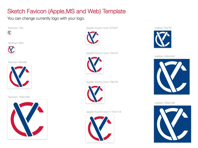 Sketch Favicon (Apple,Ms and Web) Template istanbul shanghai ux ui website sketch template favicon