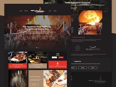 Flames Woodfire Kebab Shanghai Website bootstrap relaunch turkey wireframes mockup shanghai ux ui website sketch
