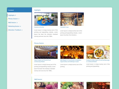 Commer Report Page detail content events ux ui shanghai china