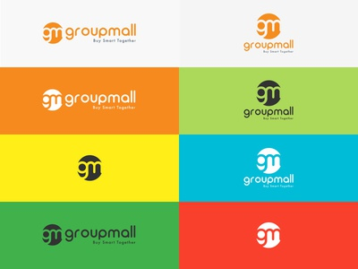 Groupmall Alternative Color Logo  colorfully shoping ux ui wechat mobile branding logo groupmall