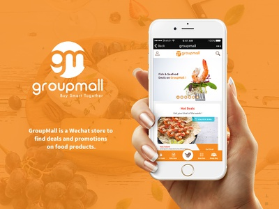 Groupmall Wechat Mockup shoping ux ui wechat mobile branding logo groupmall