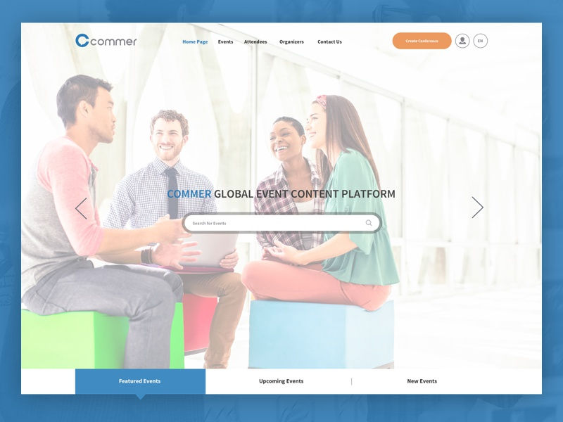 Commer home page design