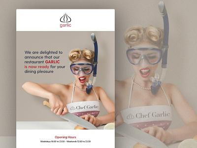Garlic Opening Email Design email singlepage edm creative turkishrestaurant garlic shanghai china beijing turkey