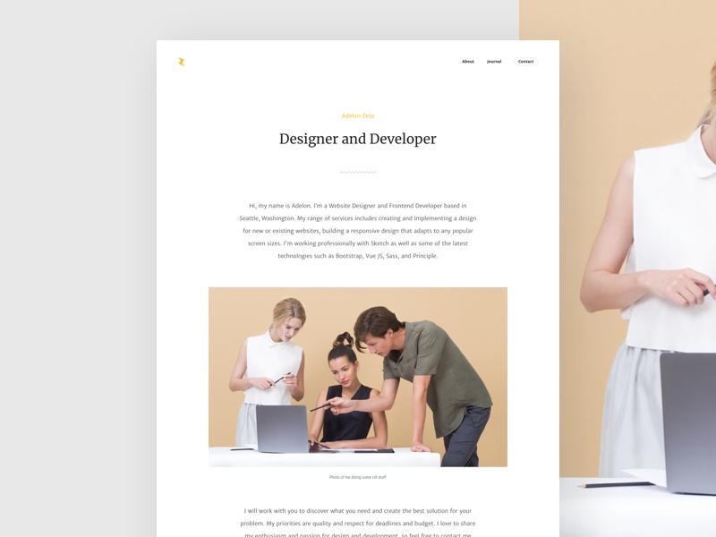 About Page by Adelon Zeta | Dribbble | Dribbble