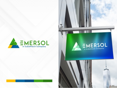 Emersol Logo Design identity tech logo green colorful logo e logo piramid icon vector logo mockup mockup best logo branding logo logotype emersol logodesign