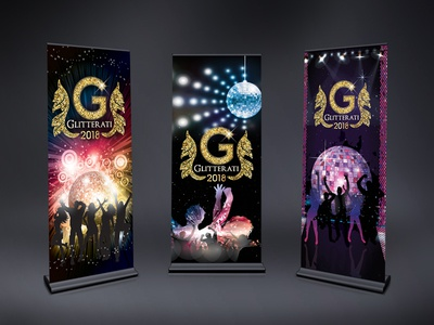 Party Roll-up Designs (Standee)