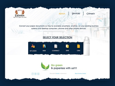 Paperless Document Landing Page dms crm cloud service login services go green document paperless landing page