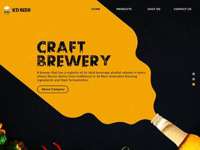 KD Brewery Landing Page webdesign design ui shop product page landing craft brewery beer kd about