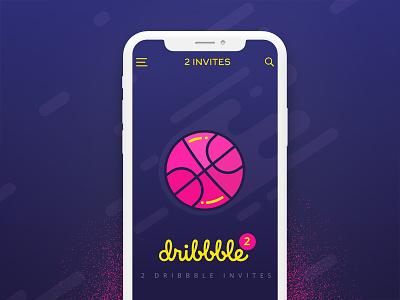Dribbble Invites uiux popup mobile kd invites code invitation app giveaway design flat invite dribbble