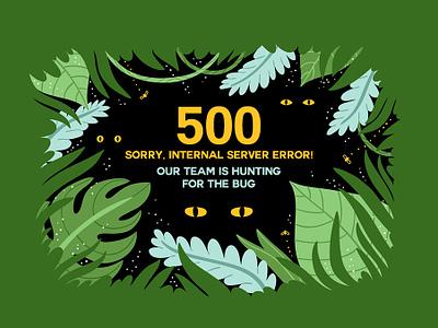 500 Error❗ ooops something worng server problem error page 500 error technology server creativity trendy typography team bug hunting internal error 500 illustration design ui