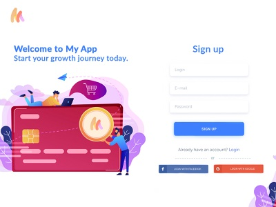 My Pay Sign Up Page user account web login register branding my pay login page user interface forgot password login design login sign in and sign up my pay sign up page sign up page minimal uiux trendy illustration design ui