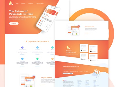 My Pay Website UI Concept best shots user experience user interface my pay more footer design solutions payment web website ui concept ui  ux minimal trendy design landing page web page web design branding