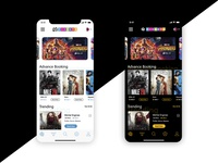 Movie & Event Booking App Home Screen