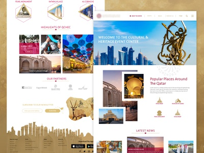 Web Design Exploration branding events website dashboard landing  page userinterface card layout web minimal best shot sign in sign up footer design kihtrak qatar qatar product design website home page design user experience interface interaction design home page