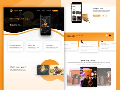 Mobile App Landing Page mobile application hompage best designs interaction design mockup design webdesign introducing gallery landing page concept app store playstore testimonial card design download app landing page