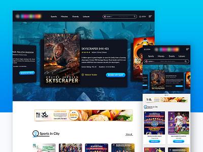 Web & Responsive Design card design explore carousel uiux sports movies responsive responsive website login website responsive design webdesign