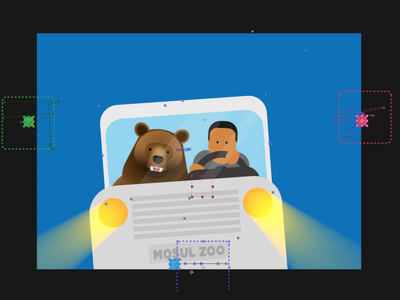 The great bear escape - behind the scenes process