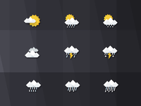 gray weather icon