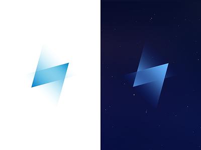 Blue light logo bolt see visual icon blue graphics light media logo lightning