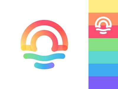 Rainbow & Sunrise love graphics sea color visual see sunrise rainbow logo