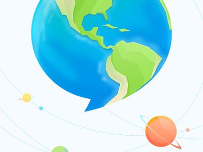Link splash ux ui see app social universe earth star speed link visual